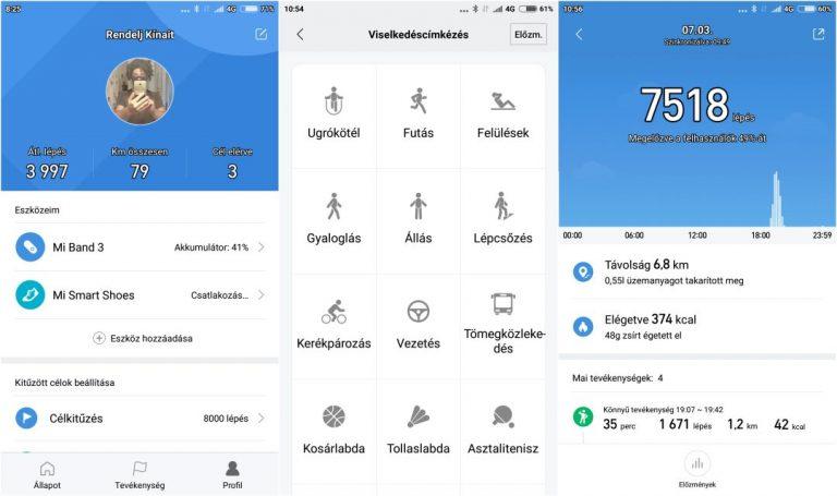 Xiaomi Mi Band 3 okoskarkötő teszt 15