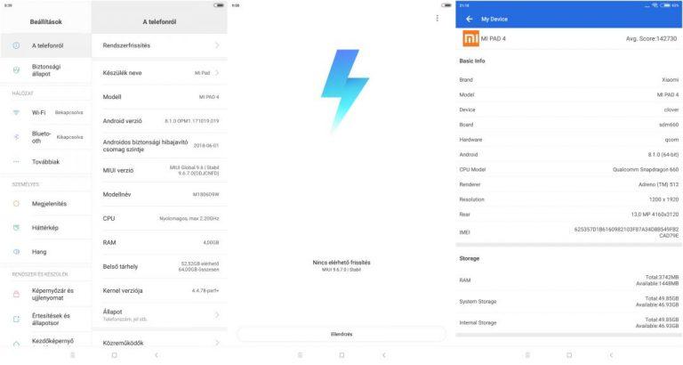 Xiaomi Mi Pad 4 tablet teszt 15
