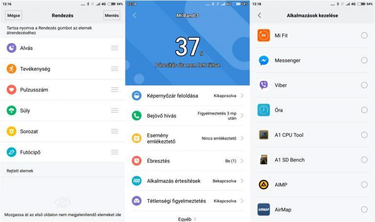 Xiaomi Mi Band 3 okoskarkötő teszt 17