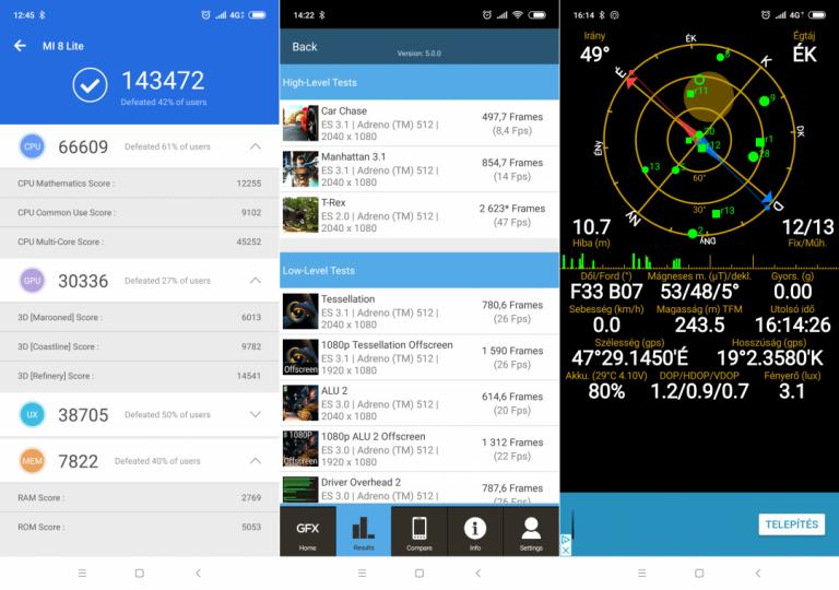 Xiaomi Mi 8 Lite okostelefon teszt 13
