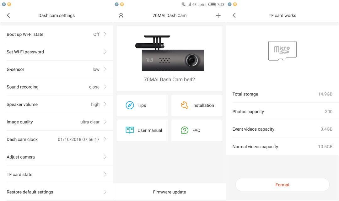 Xiaomi 70 minutes DVR kamera teszt 14