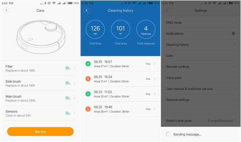 Xiaomi Mi Robot porszívó teszt 13