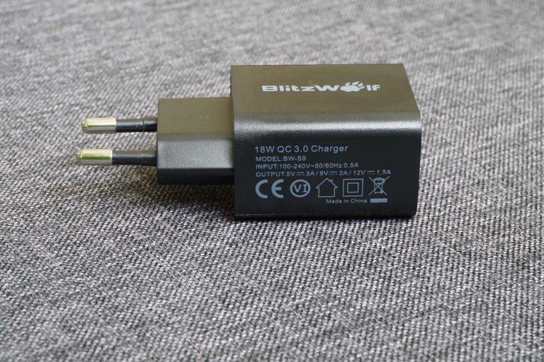 BlitzWolf BW-S9 gyorstöltő és BW-TC5 USB kábelek tesztje 6