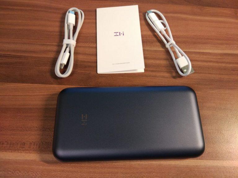 Xiaomi ZMI 10 QB820 20.000 mAh power bank teszt 4