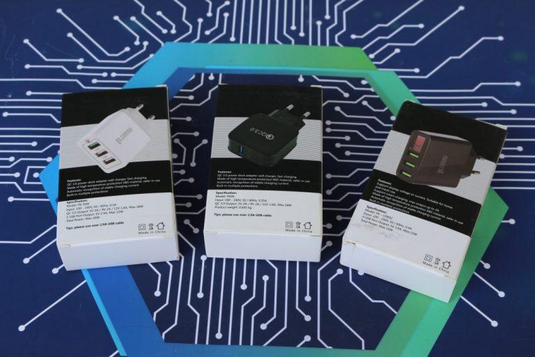 Gocomma QC 3.0 töltők tesztje 2