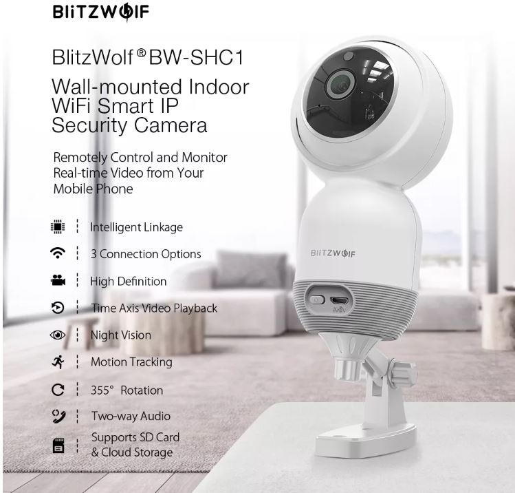 Blitzwolf BW-SHC1 IP kamera teszt 9