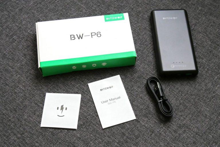 BlitzWolf BW-P6 10.000 mAh power bank teszt 3