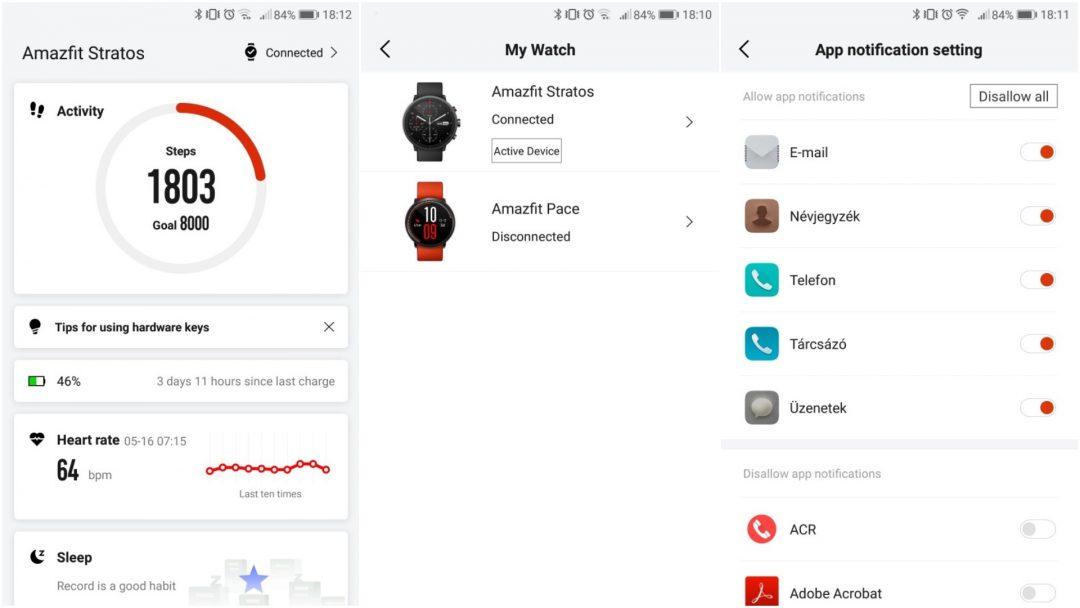 Xiaomi Amazfit Pace 2/Stratos teszt 9