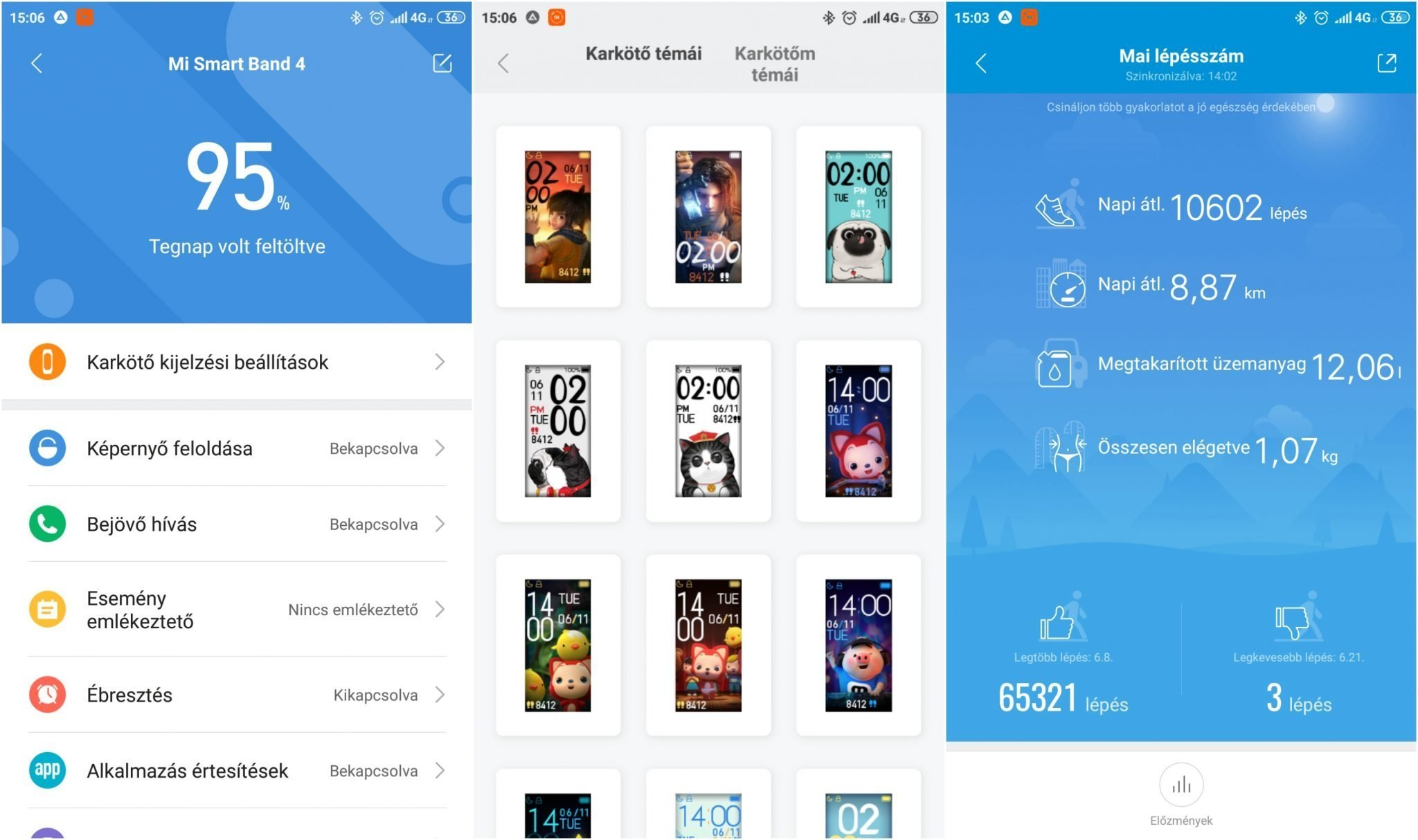 Xiaomi Mi Band 4 okoskarkötő teszt 20