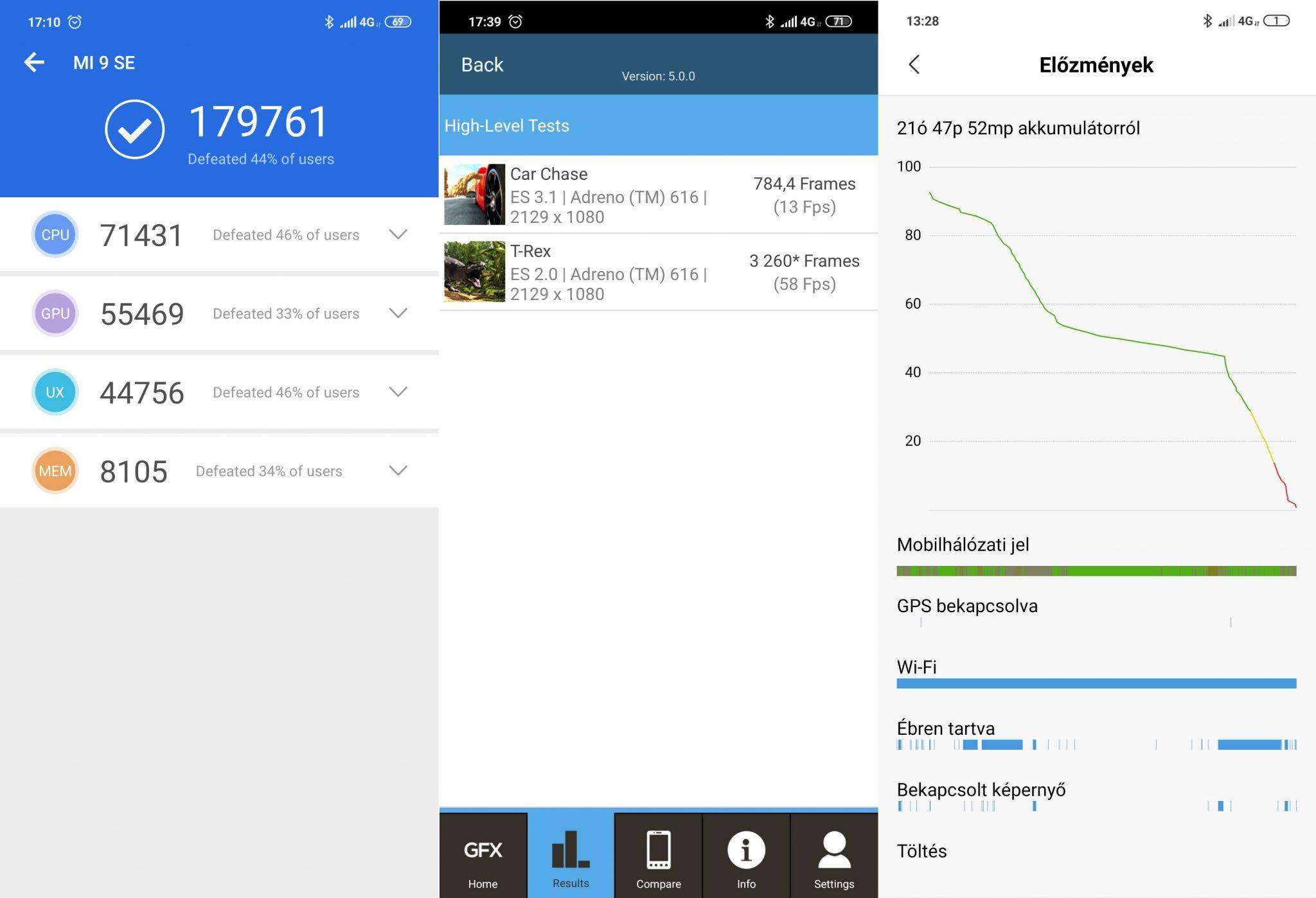 Xiaomi Mi 9 SE okostelefon teszt 10