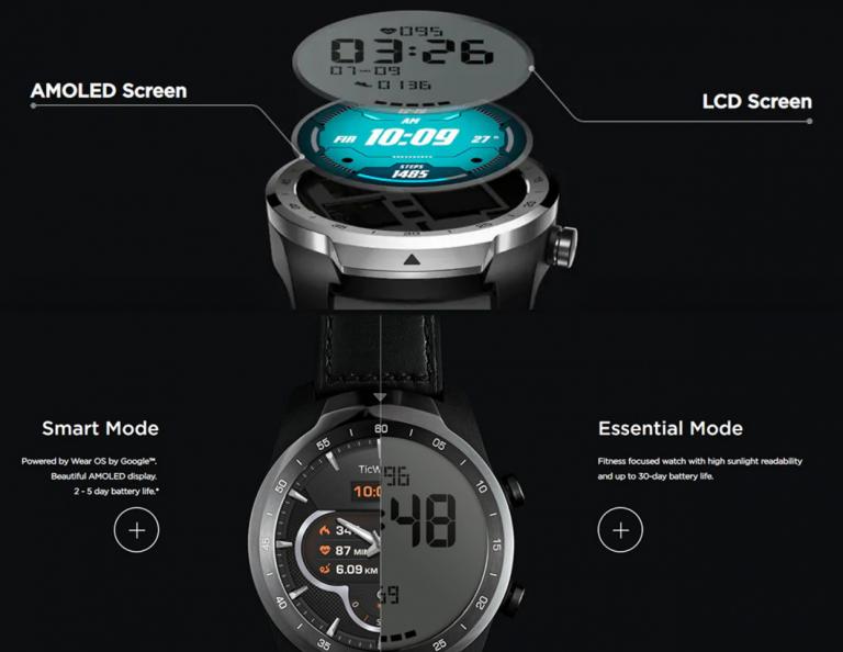 Kospet Optimus Pro vs. Ticwatch Pro okosórák 4