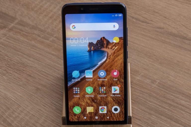 Redmi 7A okostelefon teszt 2