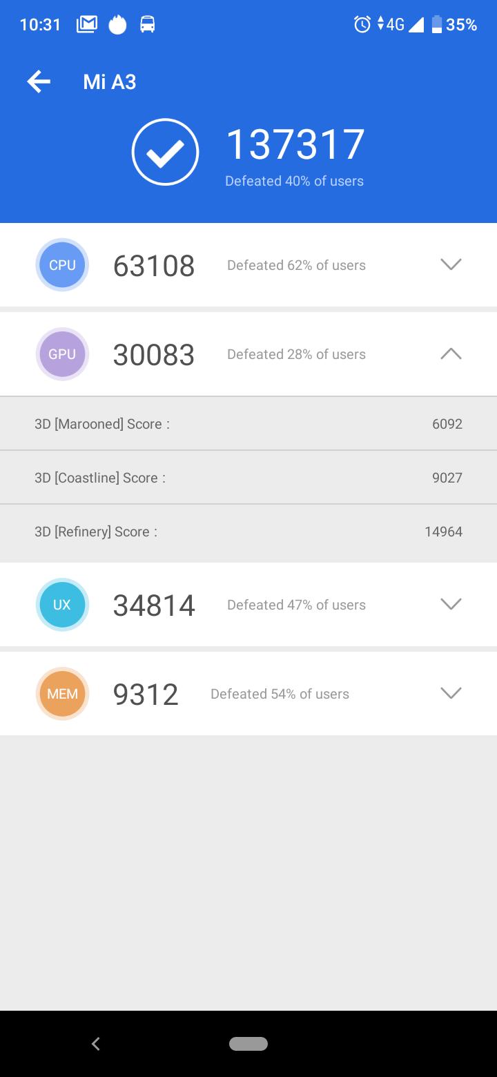 Xiaomi Mi A3 okostelefon teszt 12
