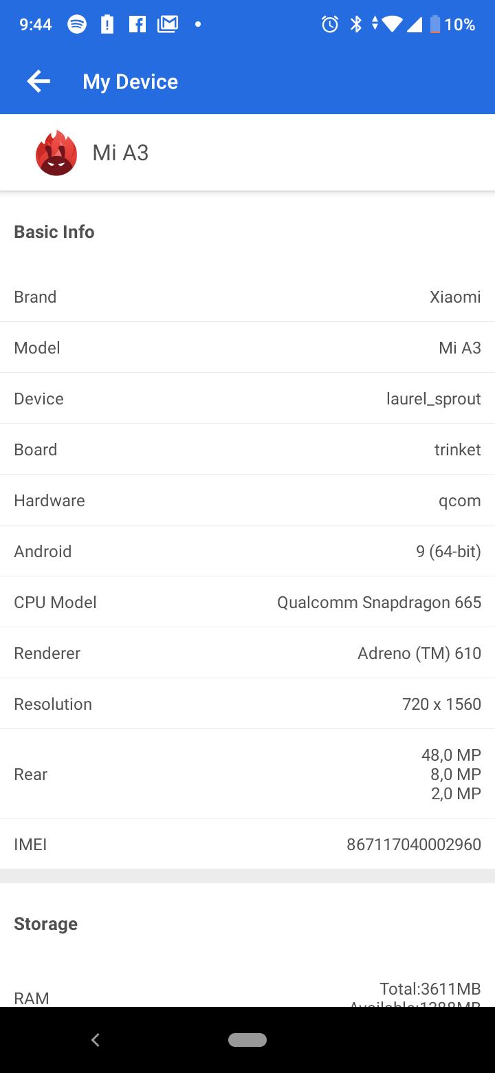 Xiaomi Mi A3 okostelefon teszt 4