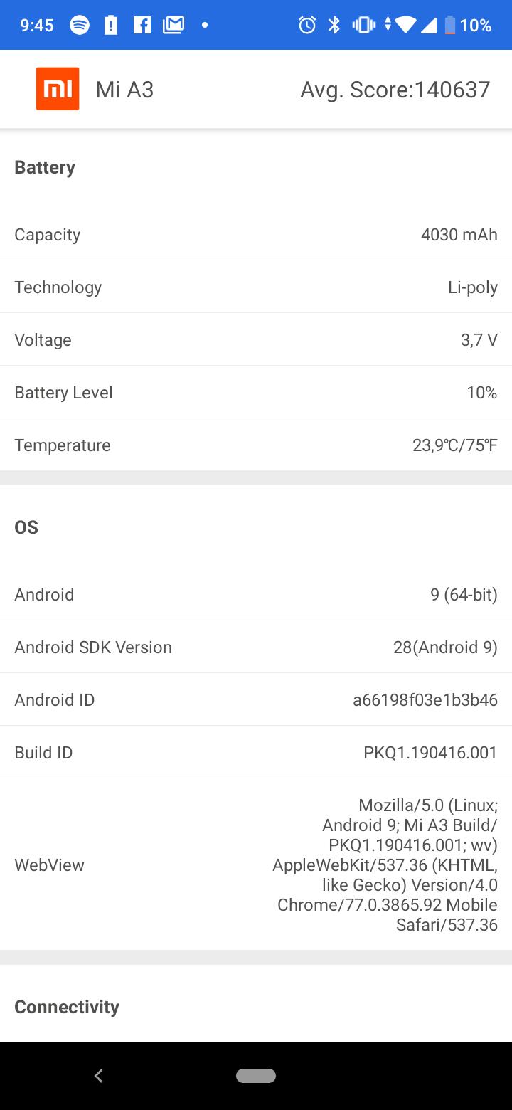 Xiaomi Mi A3 okostelefon teszt 7