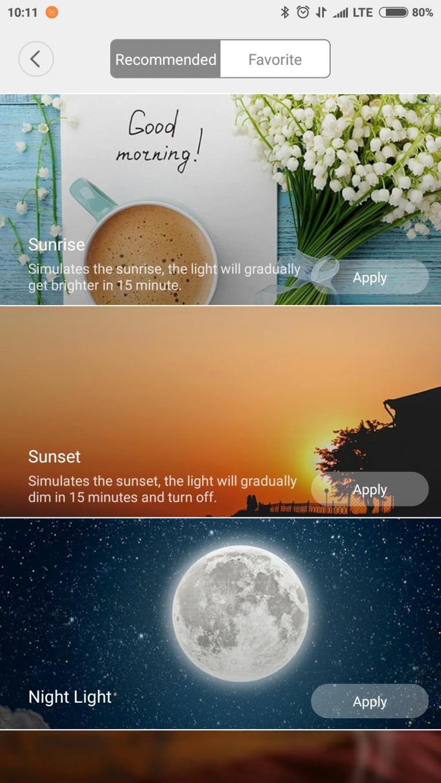 Xiaomi Yeelight YLXD42YL okoslámpa teszt 22