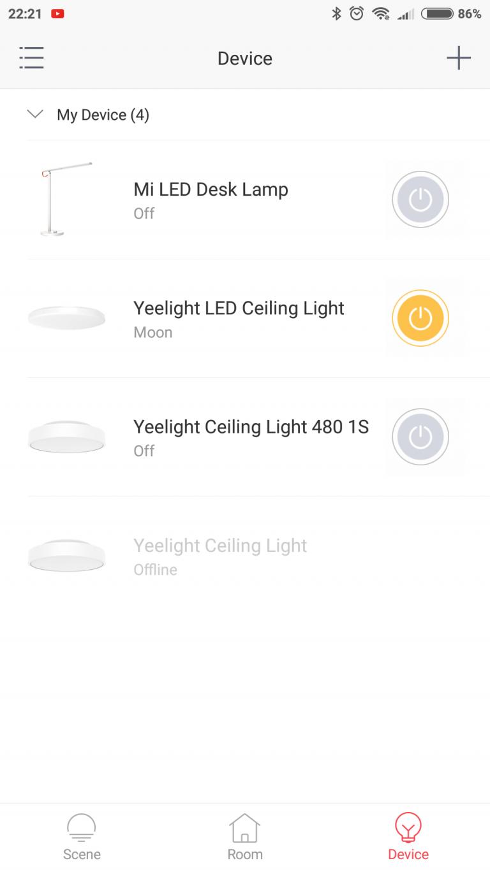 Xiaomi Yeelight YLXD42YL okoslámpa teszt 14