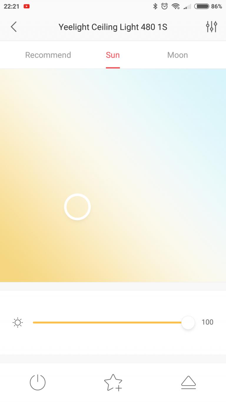 Xiaomi Yeelight YLXD42YL okoslámpa teszt 16
