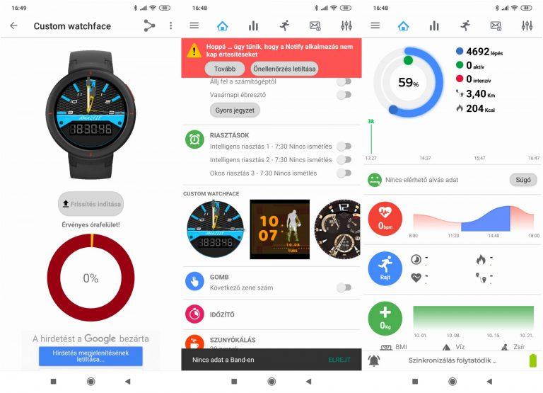 Xiaomi Amazfit Verge Lite okosóra teszt 14
