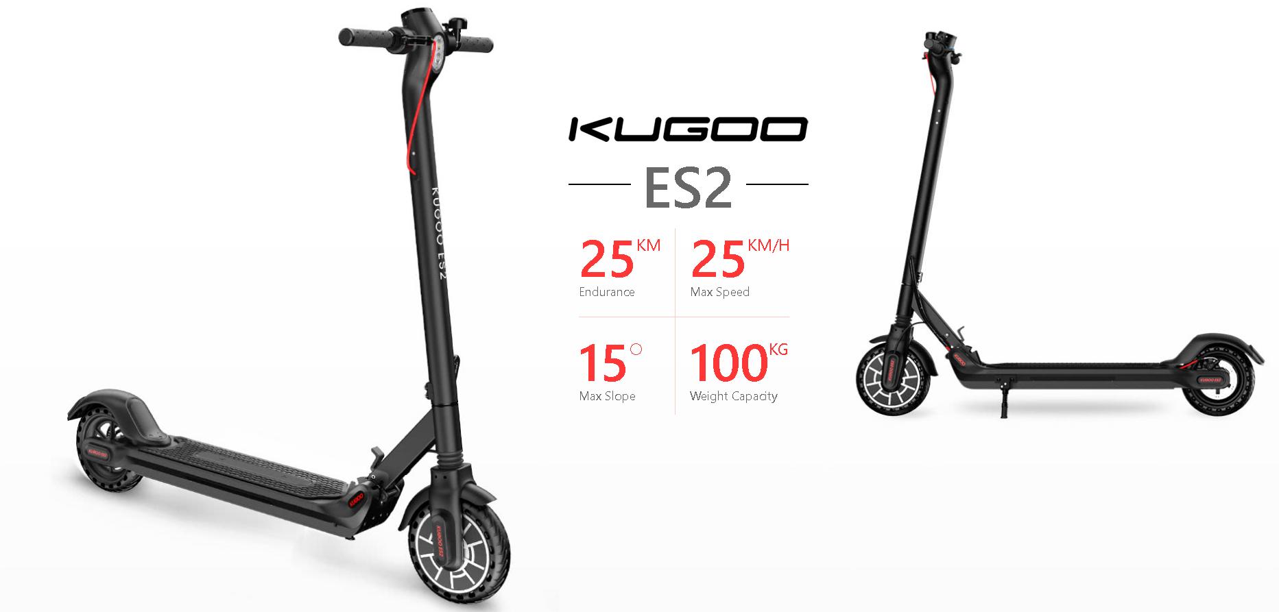 Kugoo Kirin ES2 elektromos roller teszt 34