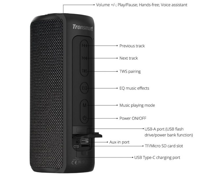 Tronsmart T6 Plus sztereó Bluetooth hangszóró teszt 12