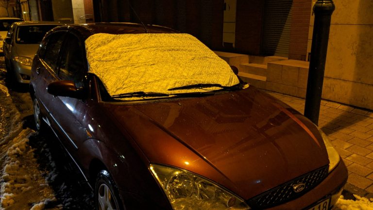 Autó szélvédő takaró teszt 8