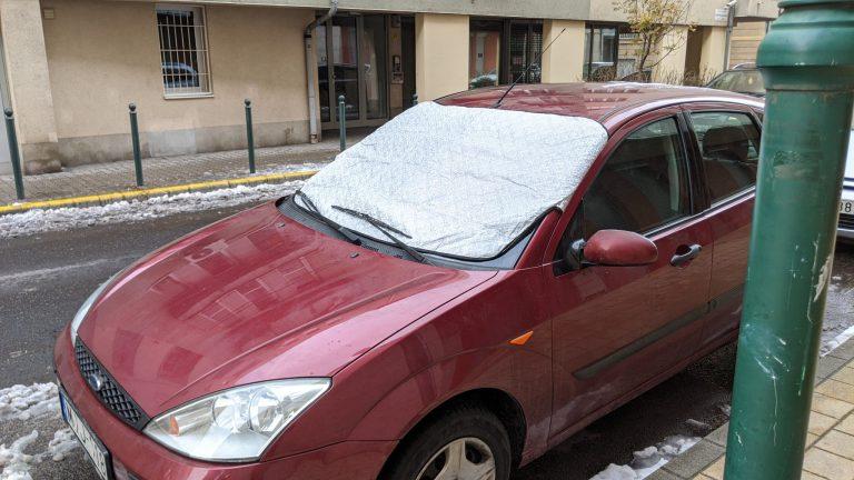 Autó szélvédő takaró teszt 6