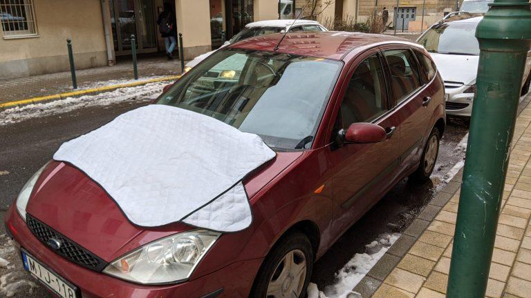 Autó szélvédő takaró teszt 5