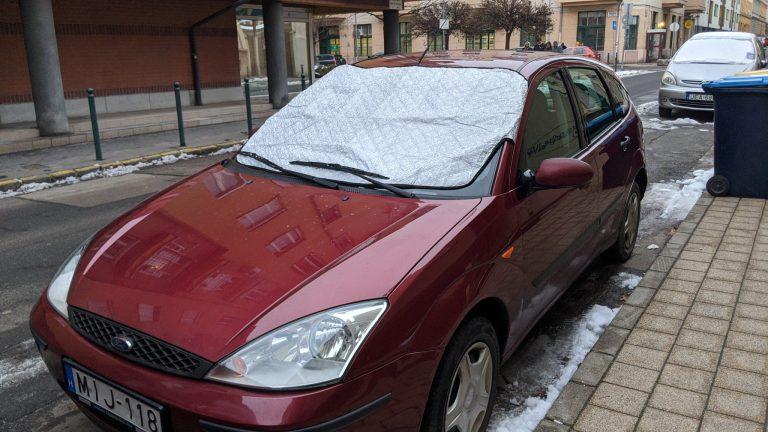 Autó szélvédő takaró teszt 3