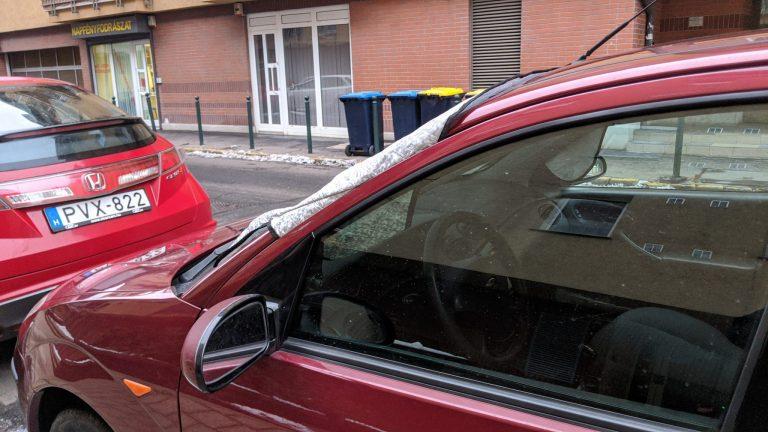 Autó szélvédő takaró teszt 2
