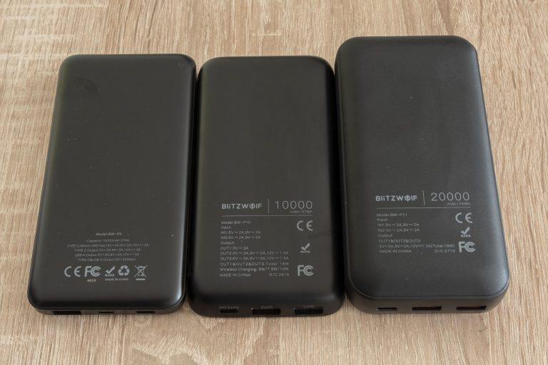 BlitzWolf P9, P10, P11 powerbankok tesztje 5