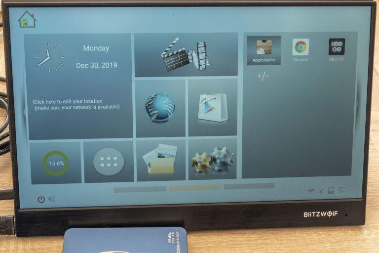 BlitzWolf BW-PCM3 hordozható monitor teszt 14