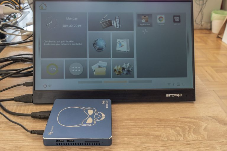 BlitzWolf BW-PCM3 hordozható monitor teszt 15