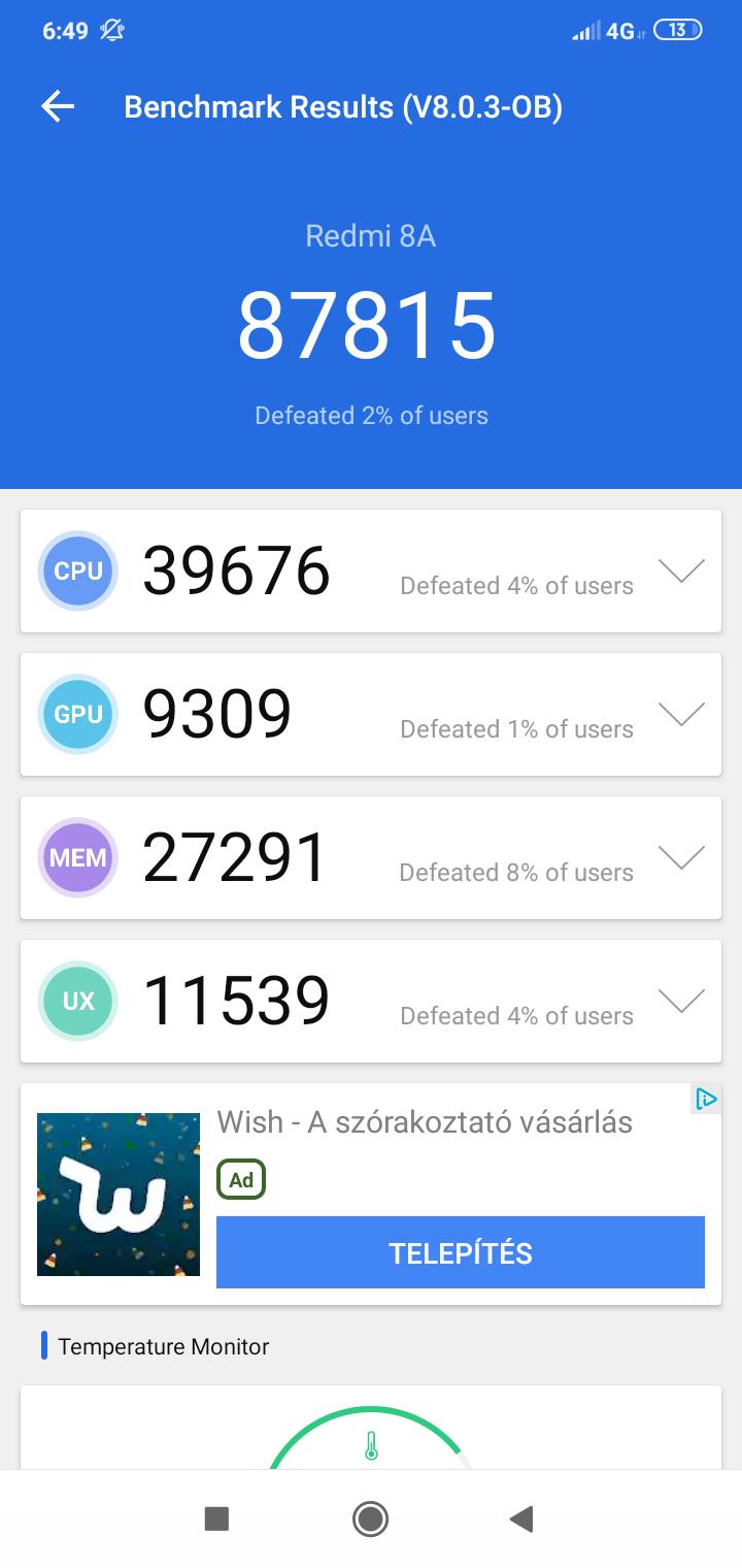 Redmi 8A okostelefon teszt 17