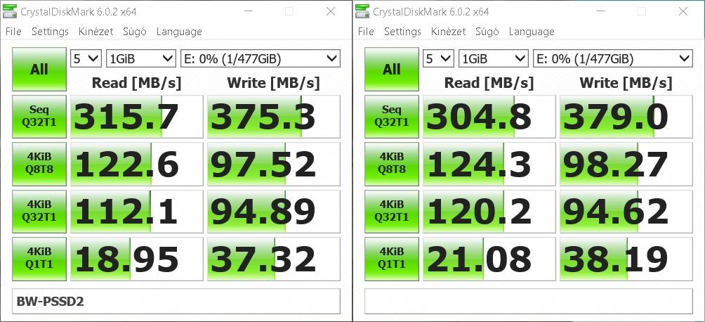 Blitzwolf BW-PSSD2 hordozható SSD teszt 9