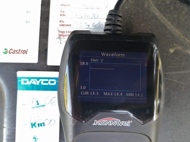Konwei KW600 akkumulátor teszter teszt 12