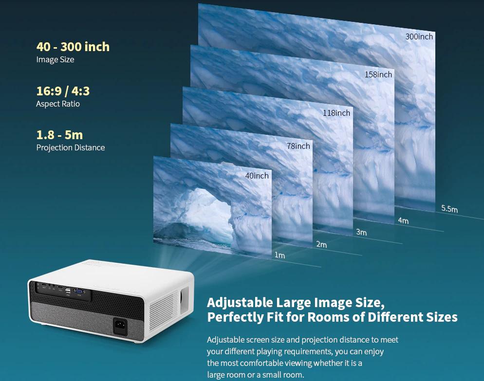 Alfawise Q9 projektor teszt 18