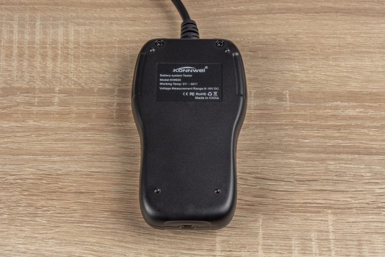 Konwei KW600 akkumulátor teszter teszt 6