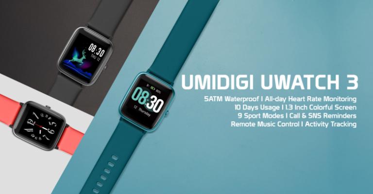 Lecke a konkurenciának: UMIDIGI Uwatch3 okoskarkötő 2