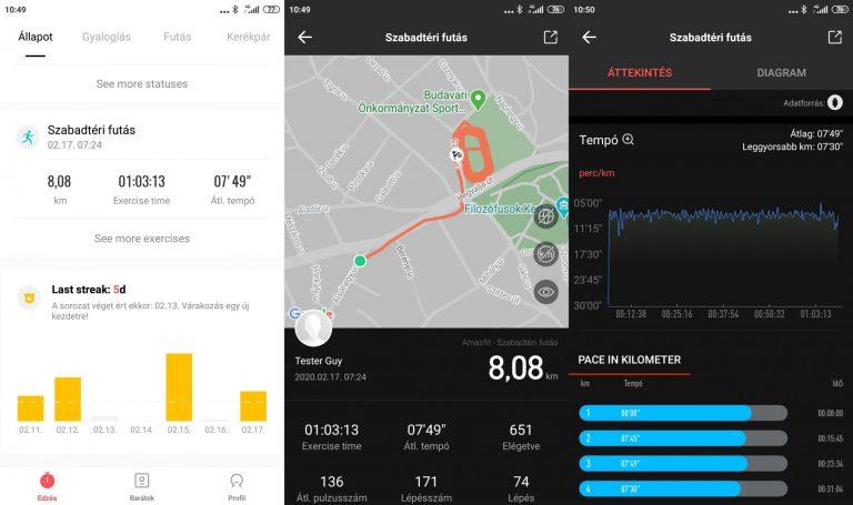 Xiaomi Amazfit GTS sportóra teszt 20
