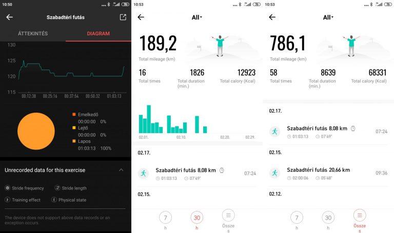 Xiaomi Amazfit GTS sportóra teszt 21