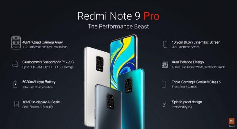 Bemutatták a Redmi Note 9 szériát 9