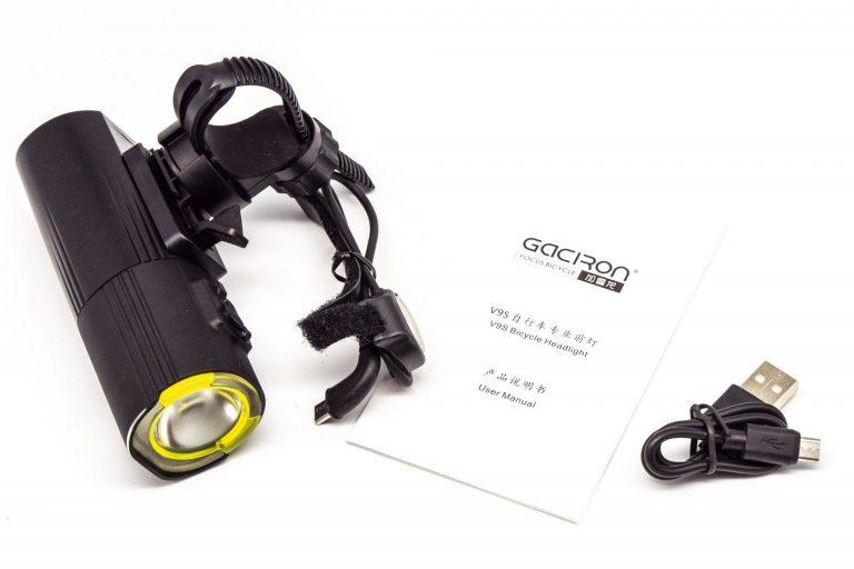 Gaciron V9S-1000 kerékpárlámpa teszt 3