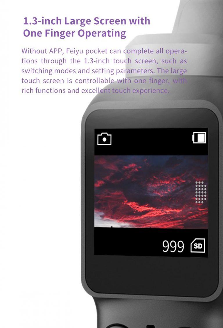 Feiyu Pocket gimbal kamera 5
