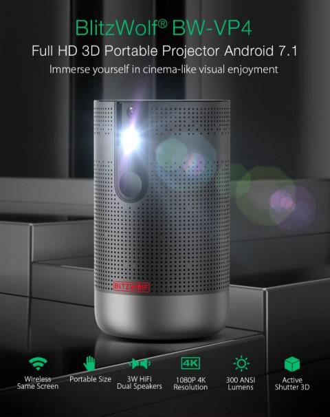 Hordozható, Full HD projektor a BlitzWolftól 4