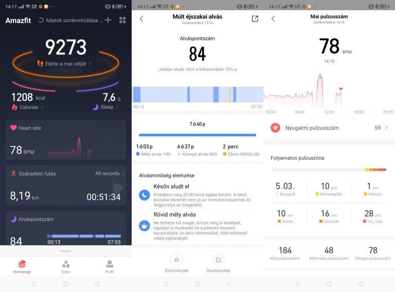 Xiaomi Amazfit T-Rex sportóra teszt 17