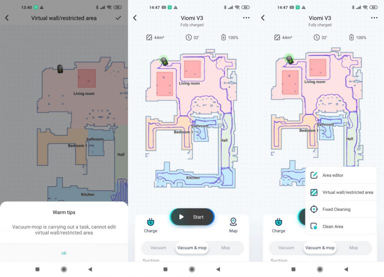Xiaomi Viomi V3 robotporszívó teszt 15