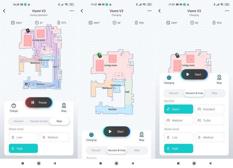Xiaomi Viomi V3 robotporszívó teszt 17