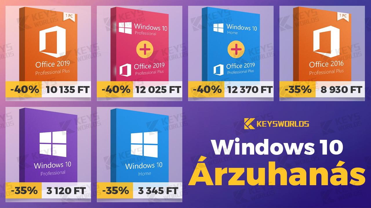 Erős forint, olcsó Windows 2
