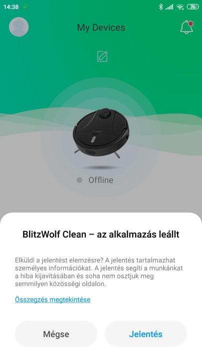 Blitzwolf BW-VC2 robotporszívó teszt 13